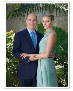Le Prince Albert II et de Melle Charlene Wittstock
