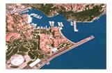 Vue aérienne du port de Fontvielle (Monaco)