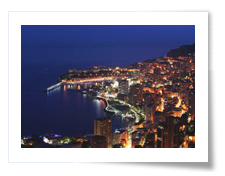 general view of Monaco, Monte-Carlo