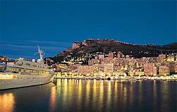 Vue de nuit du port de Monaco