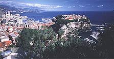 Le port de Fontvielle et le Rocher de Monaco